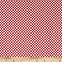 QT Fabrics Red White & Blue Check Red