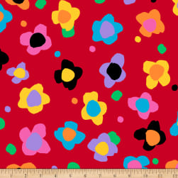 QT Fabrics Evie Tossed Floral Red