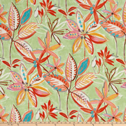 PKL Studio Indoor/Outdoor Painted Leaves Melon Fabric