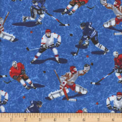 Mook Flannel Hockey Players Cracked Ice