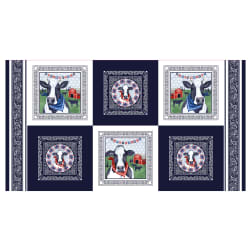 Heritage USA Blocks 24'' Panel Navy Fabric