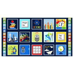 Saved By The Bell 24'' Block Panel Navy Fabric