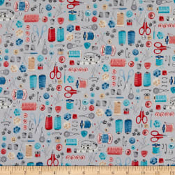 Andover/Makower UK Stitch in Time Notions Grey