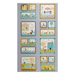 Andover/Makower UK A Walk in the Park Panel Multi Fabric