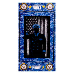 Military Navy Cotton Panel Navy Fabric
