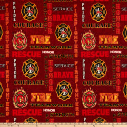 Fire Fighter Red Heather Fleece