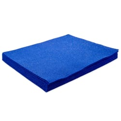 9 X 12 Royal Blue Glitter Felt 12