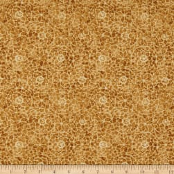 Timeless Treasures Tapestry Mosaic Gold Fabric