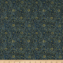 Timeless Treasures Tapestry Mosaic Sapphire Fabric