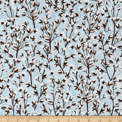 Timeless Treasures Cotton Blossom Plants Beige
