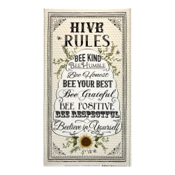 Timeless Treasures Hive Rules 24'' Bee Hive Rules Panel Natural Fabric