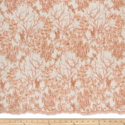 Telio Poppie Embellished Beaded Floral Lace Whisper Pink