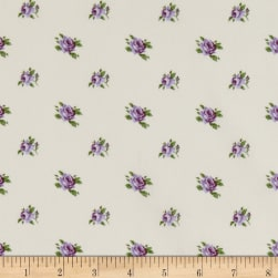StofDenmark Quilters Basic Memory Medium Roses Ivory/Lilac