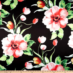 Starlight Tropical Rose Table Top Rose Black Fabric