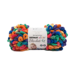 Bernat Alize Blanket-EZ Yarn, Bright Rainbow