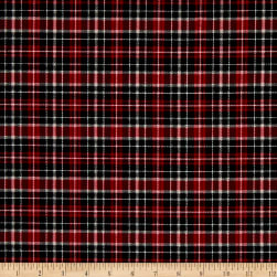 Northcott Cardinal Woods Flannel Plaid Red/Multi Fabric