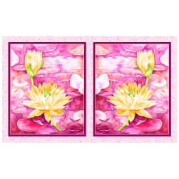P&B Textiles Water Lilies Water Lilies 21'' Panel Pink Fabric