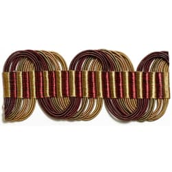 Kravet Couture Undulating Border Bordeaux T30401 94