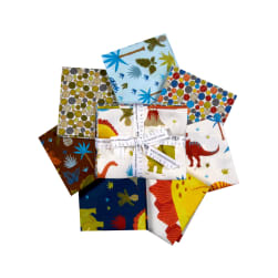 Kaufman Fat Quarter Bundles Prehistoric Adventure 7 Pcs