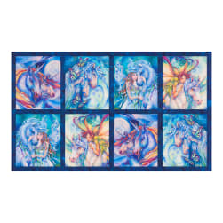 "Kaufman Morningmoon Unicorns 24"" Panel Wild"