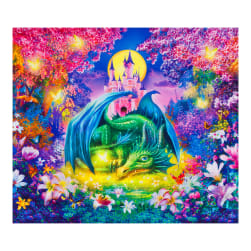 Kaufman Picture This Dragon 36'' Panel Wild Fabric