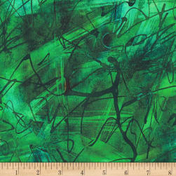 Kaufman Chromatic Trails Scribbles Emerald