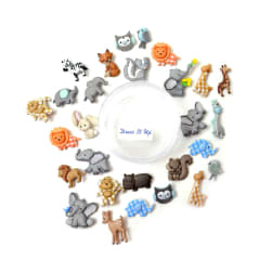 Dress it Up Embellishments Buttons Cuddly Baby Animals