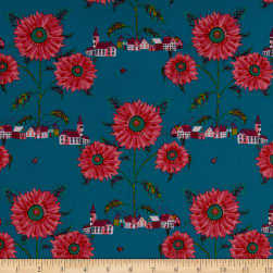 FreeSpirit Souvenir Sunny Village Sea Fabric