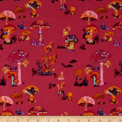FreeSpirit Souvenir Beautiful Mushrooms Lipstick Fabric