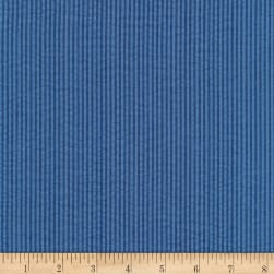 Kaufman Seersucker Stripe Denim Fabric