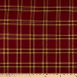Kaufman Mammoth Flannel Red Tan Plaid Fabric