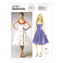 Butterick B5882 Patterns by Gertie Misses' Dress D5