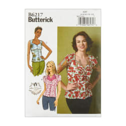 Butterick B6217 Patterns by Gertie Misses' Blouse AX5