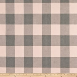 Premier Prints Buffalo Check Cotton Duck Blush Grey