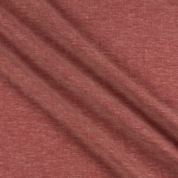 Telio Boheme Linen Rayon Chambray Red Ecru Fabric