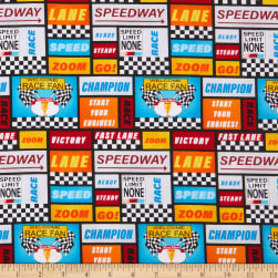Henry Glass Start Your Engines Racing Words Patch