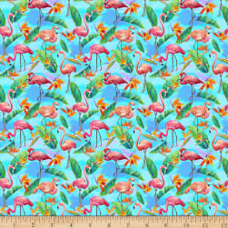 Paintbrush Studio Fabulous Flamingos Small Flamingos Leaves Light