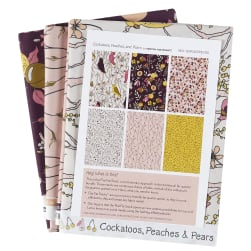 Cockatoos, Peaches, and Pears Fat Quarter Pack 6