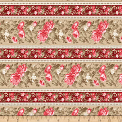 Wilmington Rhapsody In Reds Repeating Stripe Multi