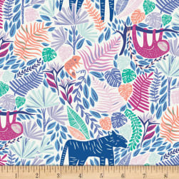 Owly Blue from the Wonderland Collection by Katarina Roccella for Art Gallery Fabric WND-1531 Cut to size from bolt AGF Owl green fabric