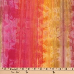 Semarang Indonesian Hand Dye Vertical Stripe Peach Fabric