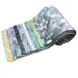 Indonesian Batik 6'' Strips Pack 24 Pcs Gray/Blue