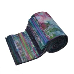 Indonesian Batik 6'' Strips Pack 24 Pcs Purple/Green/Blue