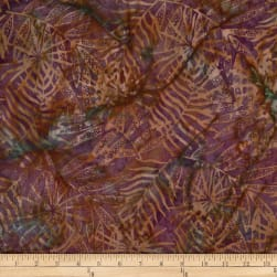 Batik by Mirah Sunflower Leaves Nellore Brown  Fabric