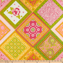 Handkerchief Print Linen Yellow/Lime/Pink/White