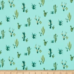 Double Brushed Poly Jersey Knit Cactus Mint/Green Fabric