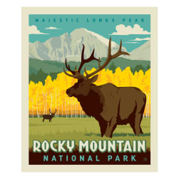 Riley Blake National Parks Rocky Mountains Panel Fabric