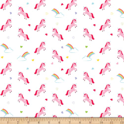 Riley Blake Flannel Once Upon A Time Unicorns