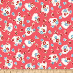 Riley Blake Love Letters Hearts Red Fabric