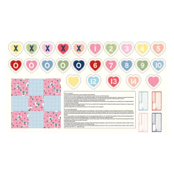 Riley Blake Love Letters Tic-Tac-Toe and Labels 24